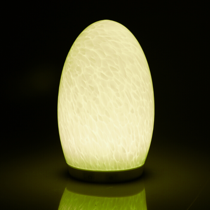 Cordless color changeable egg shape table lamp(Ripple)