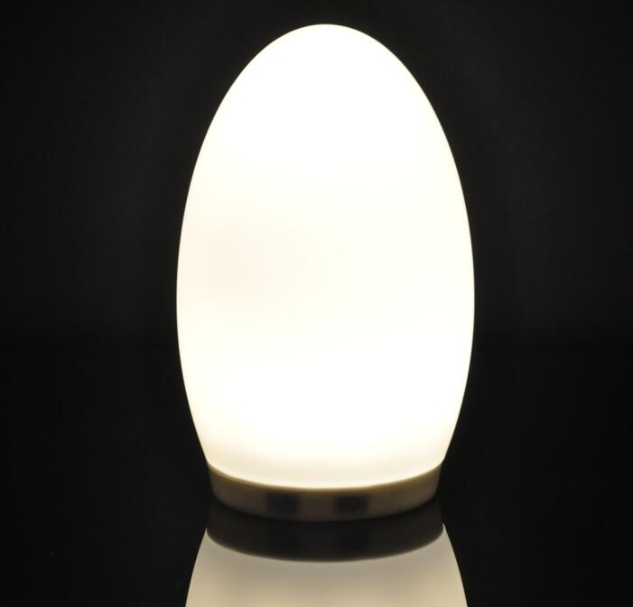 Wireless Battery Powered Egg Shape Restaurant Decorative Led Table Lamp