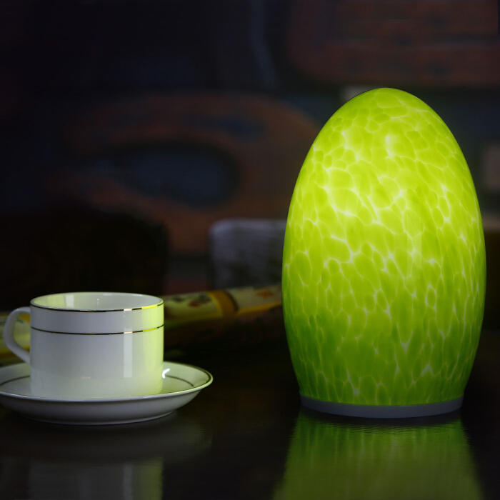 Cordless egg shape table lamp(orange)