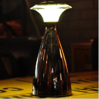Battery powered Mushroom restaurant table lamp