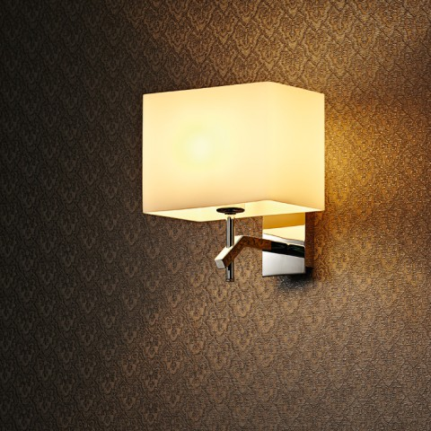 Classical Stainless Steel Polisshed Square Wall Lamp