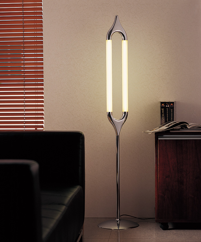 LED Light Source Iron Lamp Body Material Modern Floor Lamps