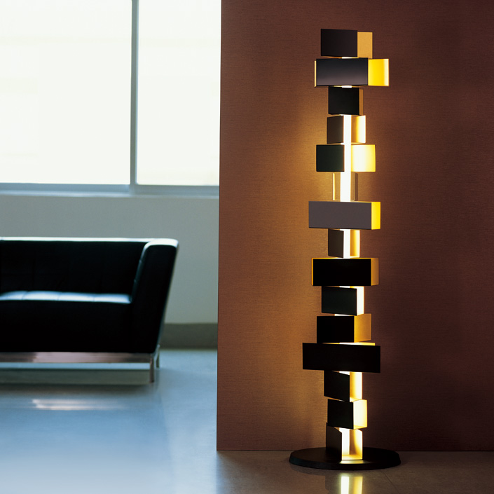 electric power source bricks art modern style hotel floor lamp