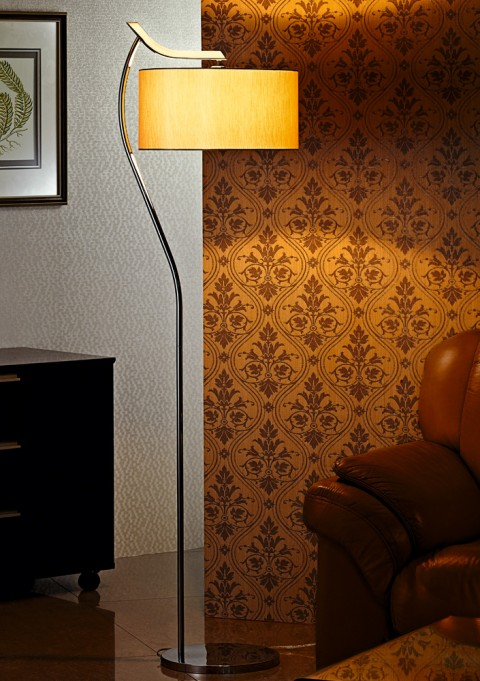 Hotel living room standing fabric Floor Lamp