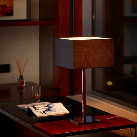 Hotel living room standing fabric table Lamp