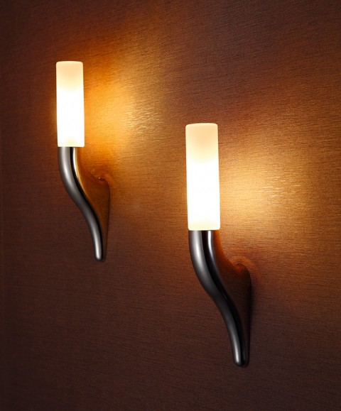 Modern indoor Opal Glass Wall Lamp