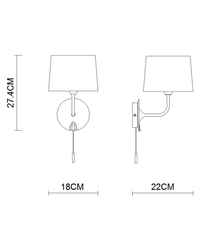 Classicial Style Elegant Appearance Hotel Home Indoor Decorative Wall Lamp