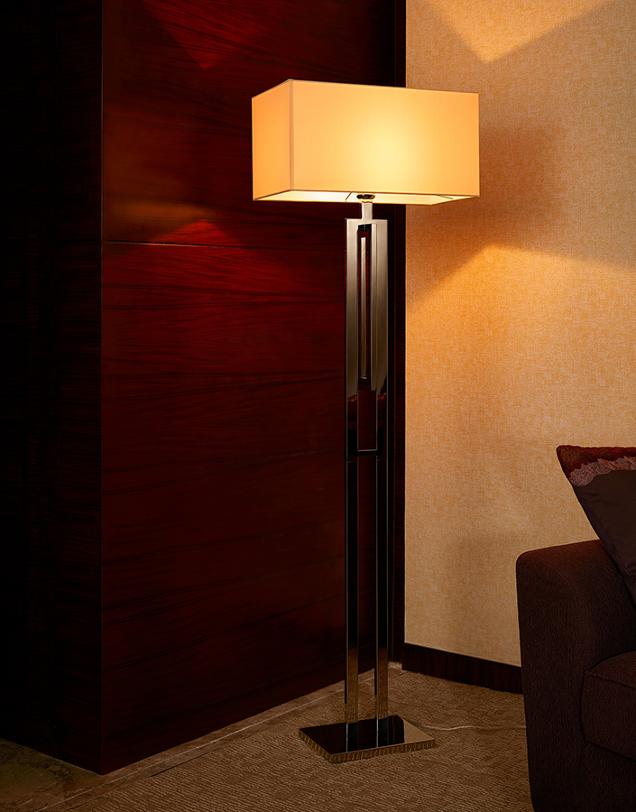 Electric Power Source Matal Fabric Material Modern Style Floor Lamp