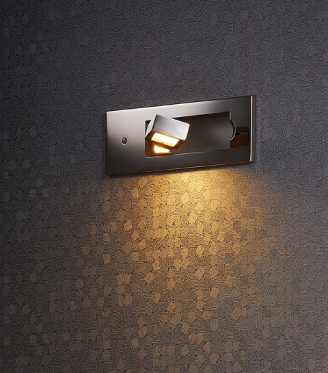 Stainless Steel Polished Recessed Wall Lamp