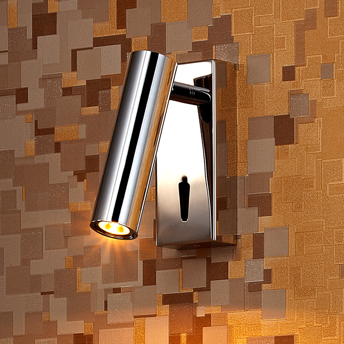 Electric Power Source Stainless Steel Hotel Bedside Reading Wall Lamp
