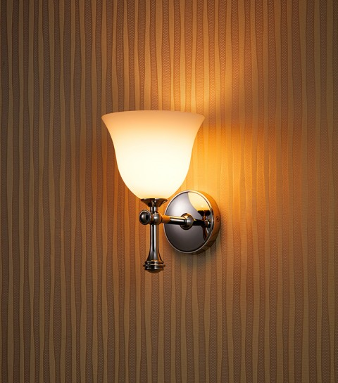 Stainless Steel Polished with Opal Glass wall lamp