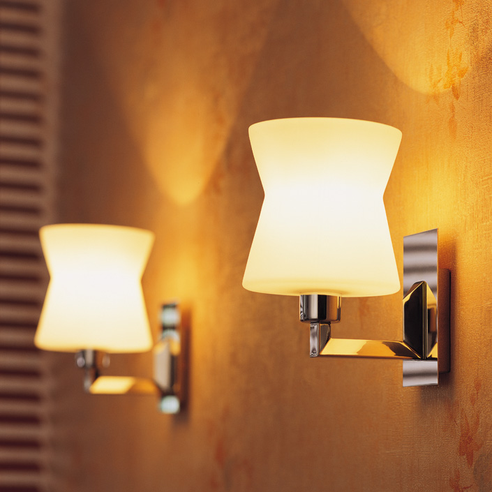Modern Style Iron Material E27 Lighting Source Hotel Wall Lamp