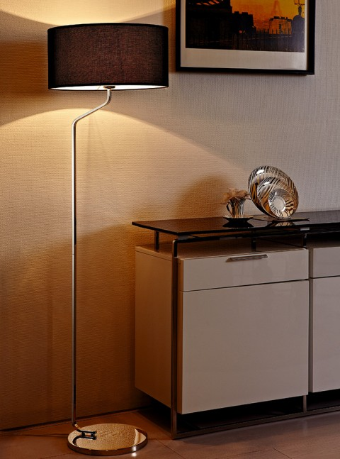 Stainless Steel Round shade Hotel Floor Lamp