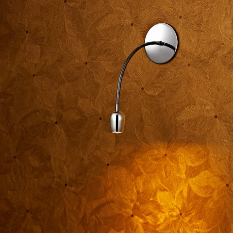 Tulip shape gooseneck Polished Chrome wall lamp