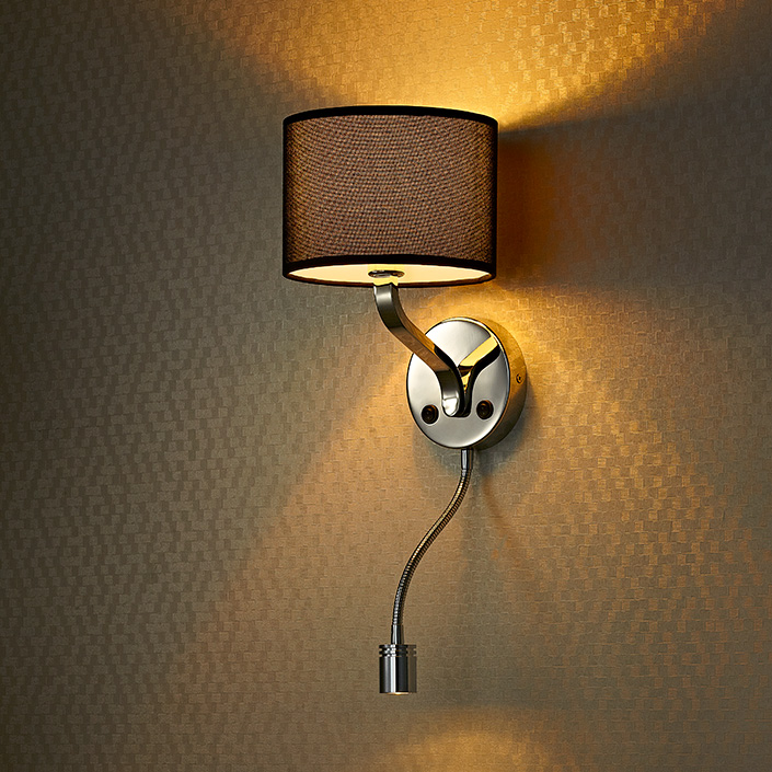 Modern Style Hotel Bedside Wall Lamp Headboard Reading Lamp