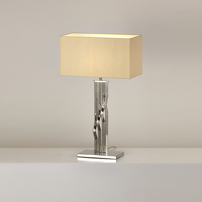 Modern simple style square shade wholesale hotel decorative table lamp