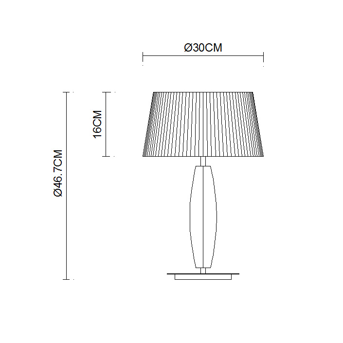 Stainless Steel Polished Lamp Body Round Fabric Lampshade Table Lamp