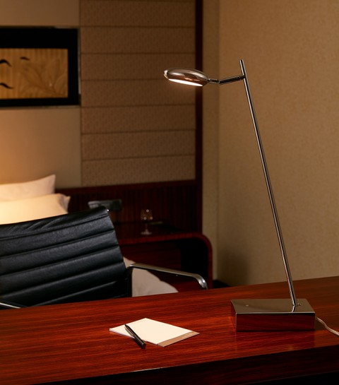 Stainless Steel Polished round hotel Table Lamp