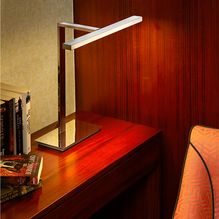 Iron Material Modern Style Power Outlet Hotel Study Table Lamp