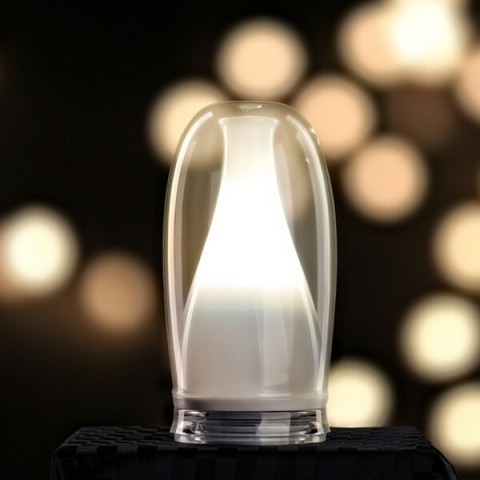 Glass Material Cordless Rechargeable Battery Operated Restaurant Mood Table  Lamp