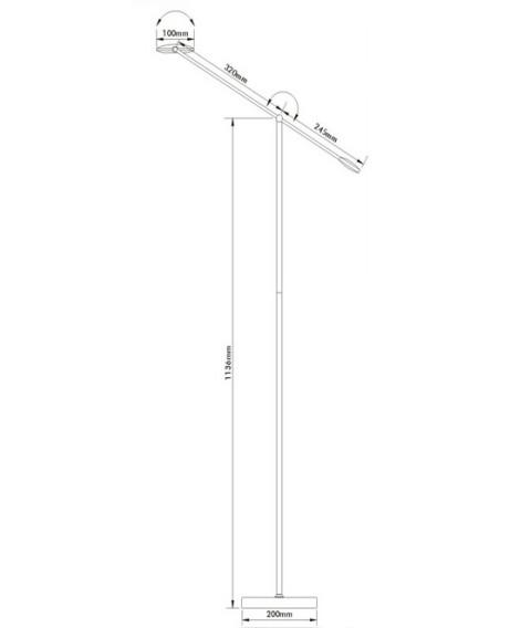 12x0.5W 380LM1800 Lux Super Bright LED Floor Lamp