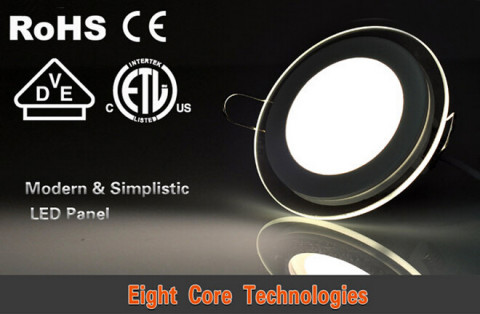 6w&12w&18w 900lm Glass round panel light