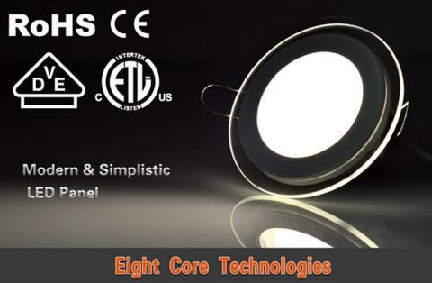 6w&12w&18w 900lm Glass round panel light
