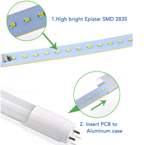 High brightness smd 3528 T8 led tube light(DL-T02) (1)