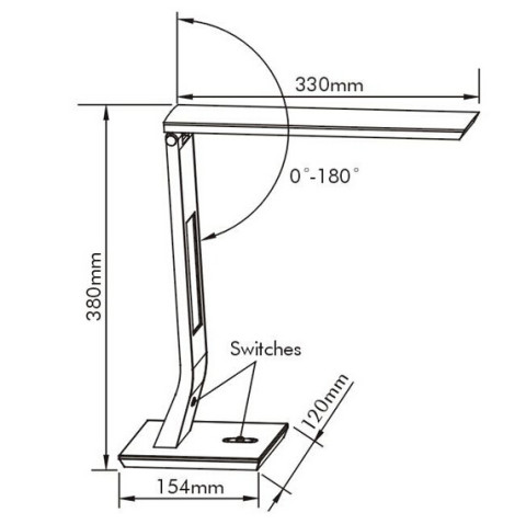 Led table reading lamp 6