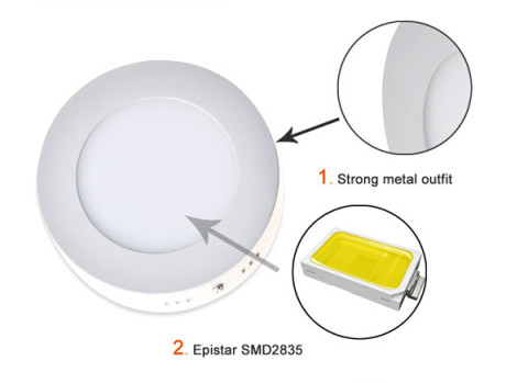 Modern design surface mounted 6-18w round led panel light (4)
