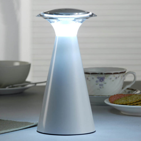 Battery operated cordless Angel table lamp