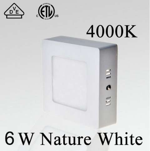 Square 6w&12W&18W led panel light
