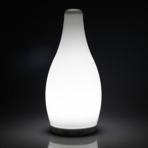 Cordless Color Changeable Bottle Shape Table Lamp Opal