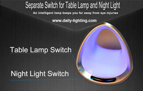 led table reading lamp and night light