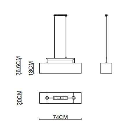 2 Bar Pendant lighting With Big Shade 1