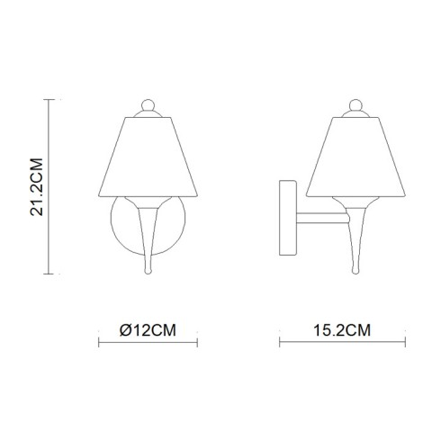 Classical torch shape hotel Wall Lamps