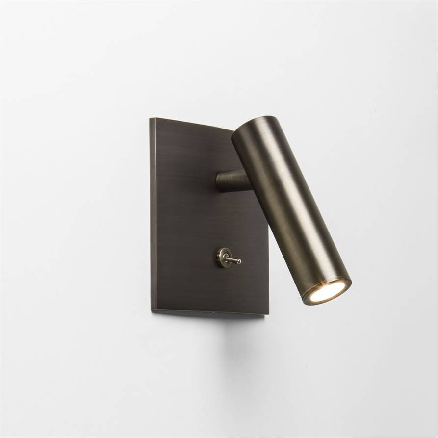 Customized square surface toggle switch headboard reading wall light