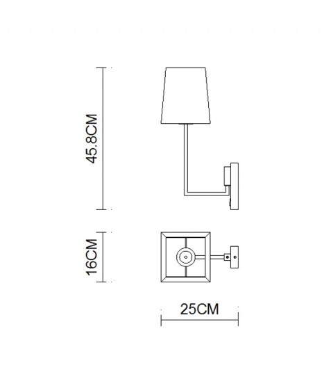 Indoor Square Taper Wall Lamps