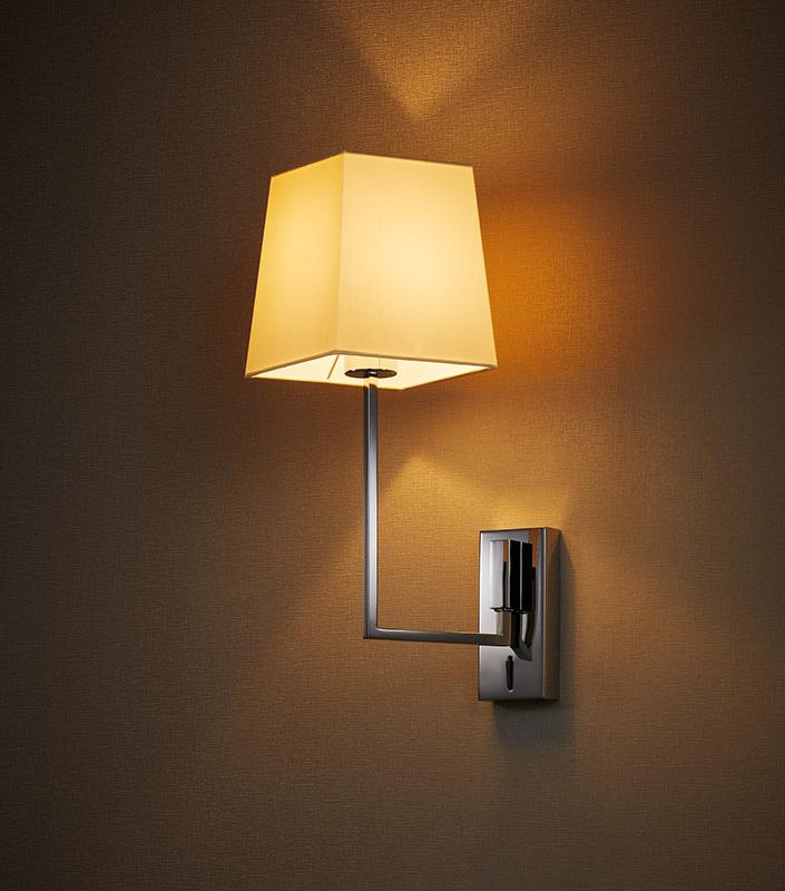 European Concise Design Style Taper Fabric Shade Corridor Wall Lamp