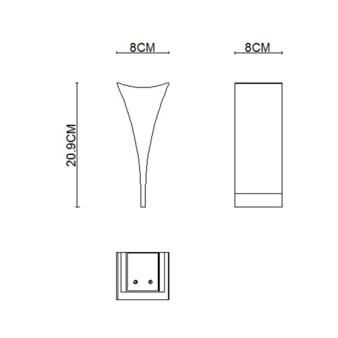 New design Stainless Steel Polished Lava wall lamps