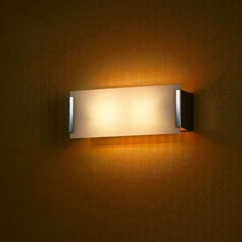 Opal glass Panel Wall Lamp
