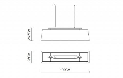 Rectangular Taper Bar pendant lightings