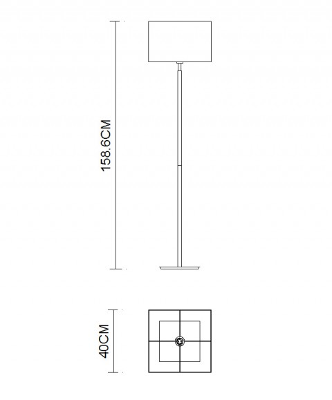 Square shade Stainless Steel Polished Floor Lamps