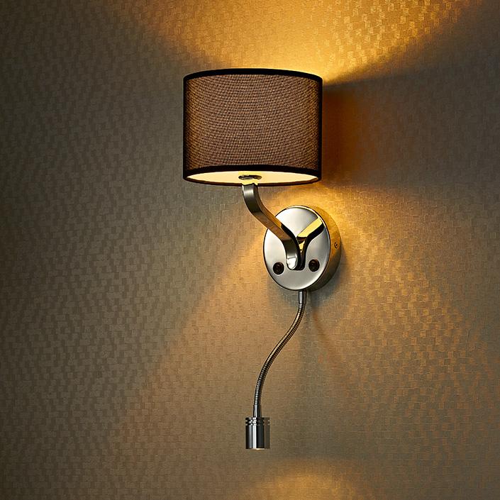 Modern style hotel bedside wall lamp headboard reading lamp for Bedside wall lamps for reading