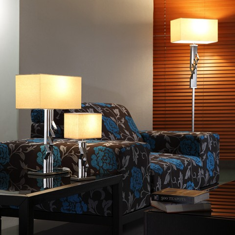 Bedroom Decoration square shade table lamps