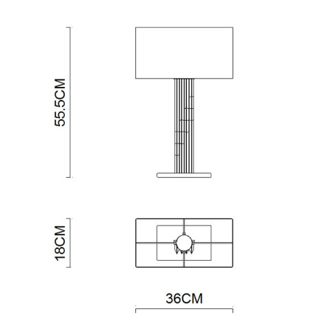 Bedroom Decoration square shade table lighting