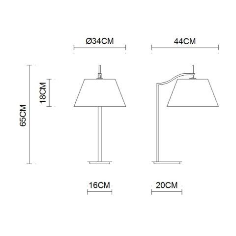 Furniture indoor lighting Stainless Steel table Lighting