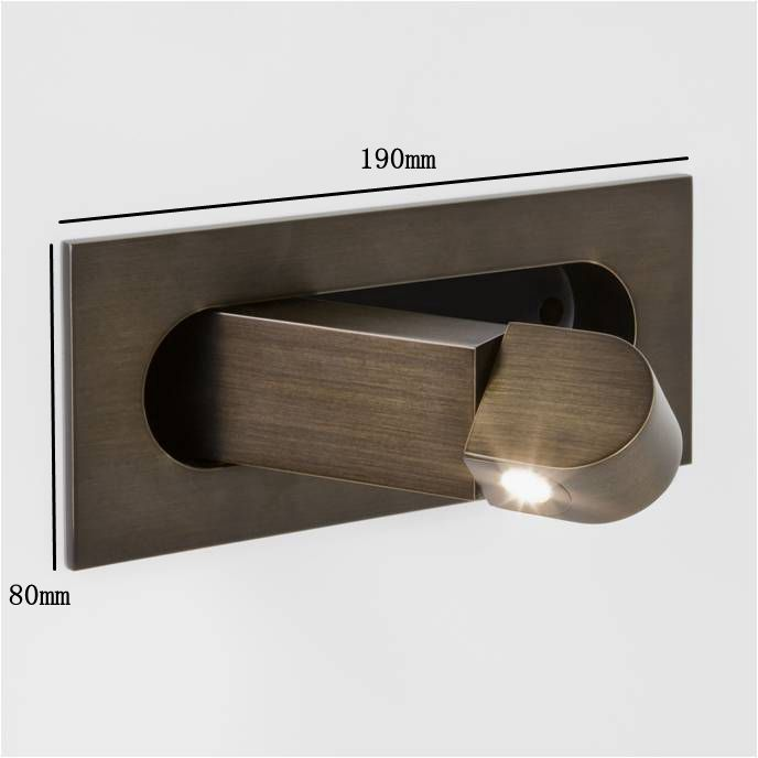 Led Wall Reading Light: Hotel Guest Room Bedside Recessed Led Reading Wall Light