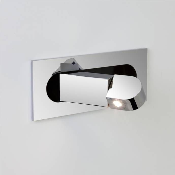 Recessed Wall Reading Lights : Hotel guest room bedside recessed led reading wall light