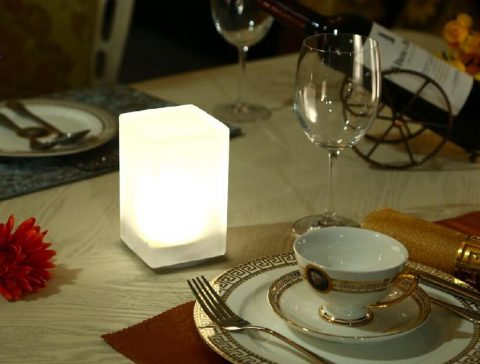 Battery Operated Color Chargeable Hotel Dining Room Led